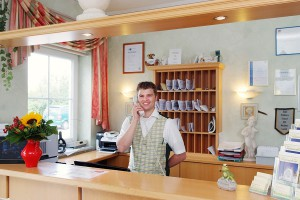 Empfang, Rezeption, Hotel Nummerhof Erding