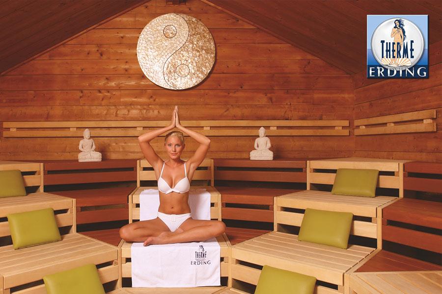 Wellness Wochenende Erding, Meditation, Sauna, Therme Erding
